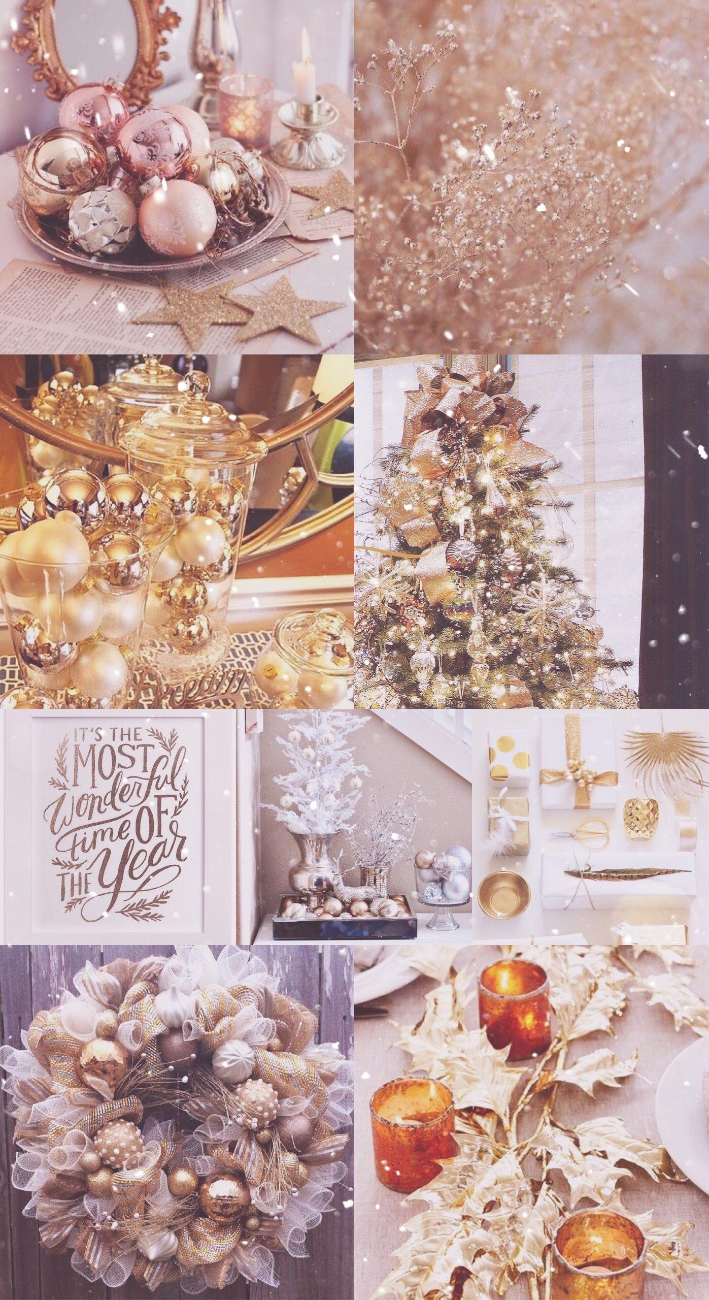gold, Christmas, xmas, wallpaper, sparkly, glitter, pretty