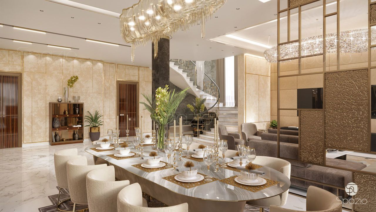 Exceptional Interior Design For A Dining Room In Dubai Home | Spazio, UAE