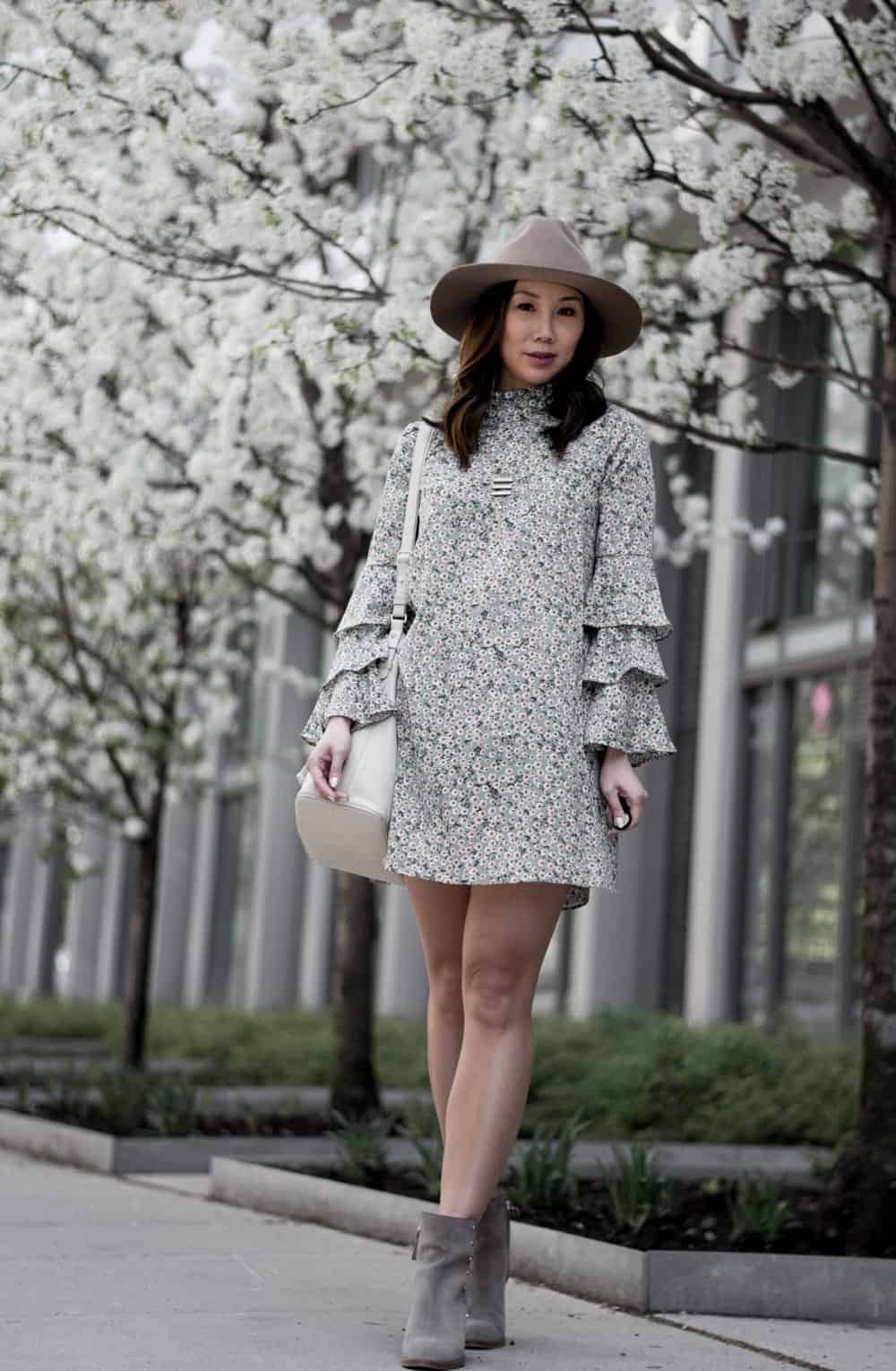 de0f4e5df2 Floral dresses with ankle boots  ootd  fblogger  styleblogger  summer   spring  look