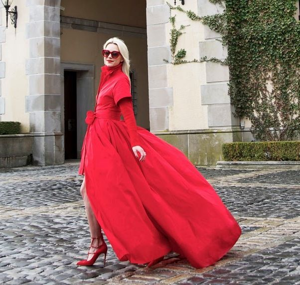 classic red dress 2017 with heels