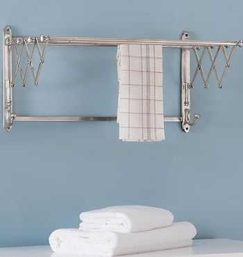 Our Extendable Metal Towel Rack is handsome towel organization that neatly hides away when not in use.