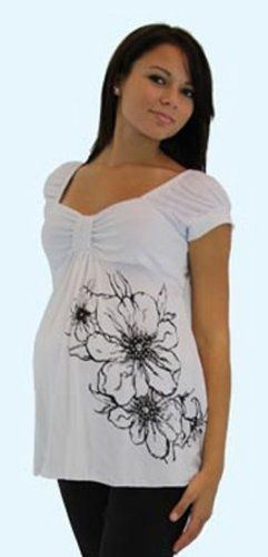 Maternity Top - Short Sleeve - Mommy Paradise $24.99 maternity-tops-tees