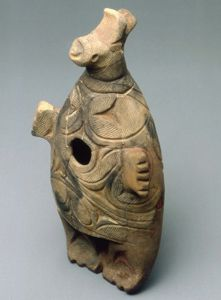 Animal-shaped clay figure excavated at the Chitose City Bibi 4 Site