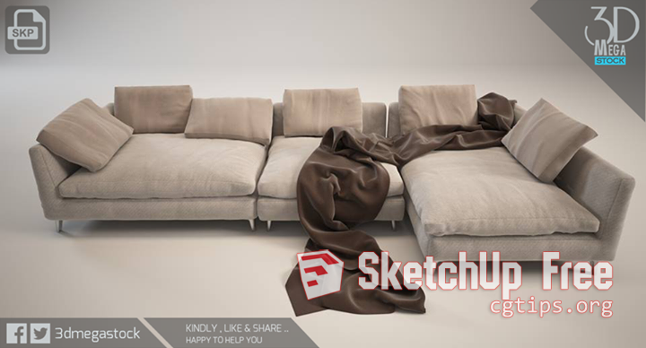 1740 Sofa Sketchup Model Free Download Sofa Sketchup Model Soft Seating