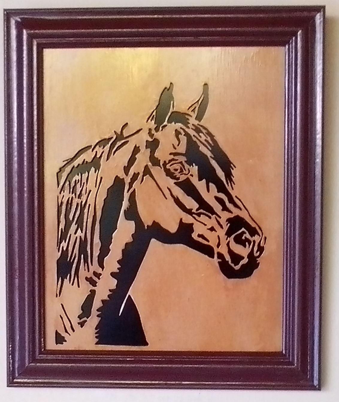 mdf horse silhouette
