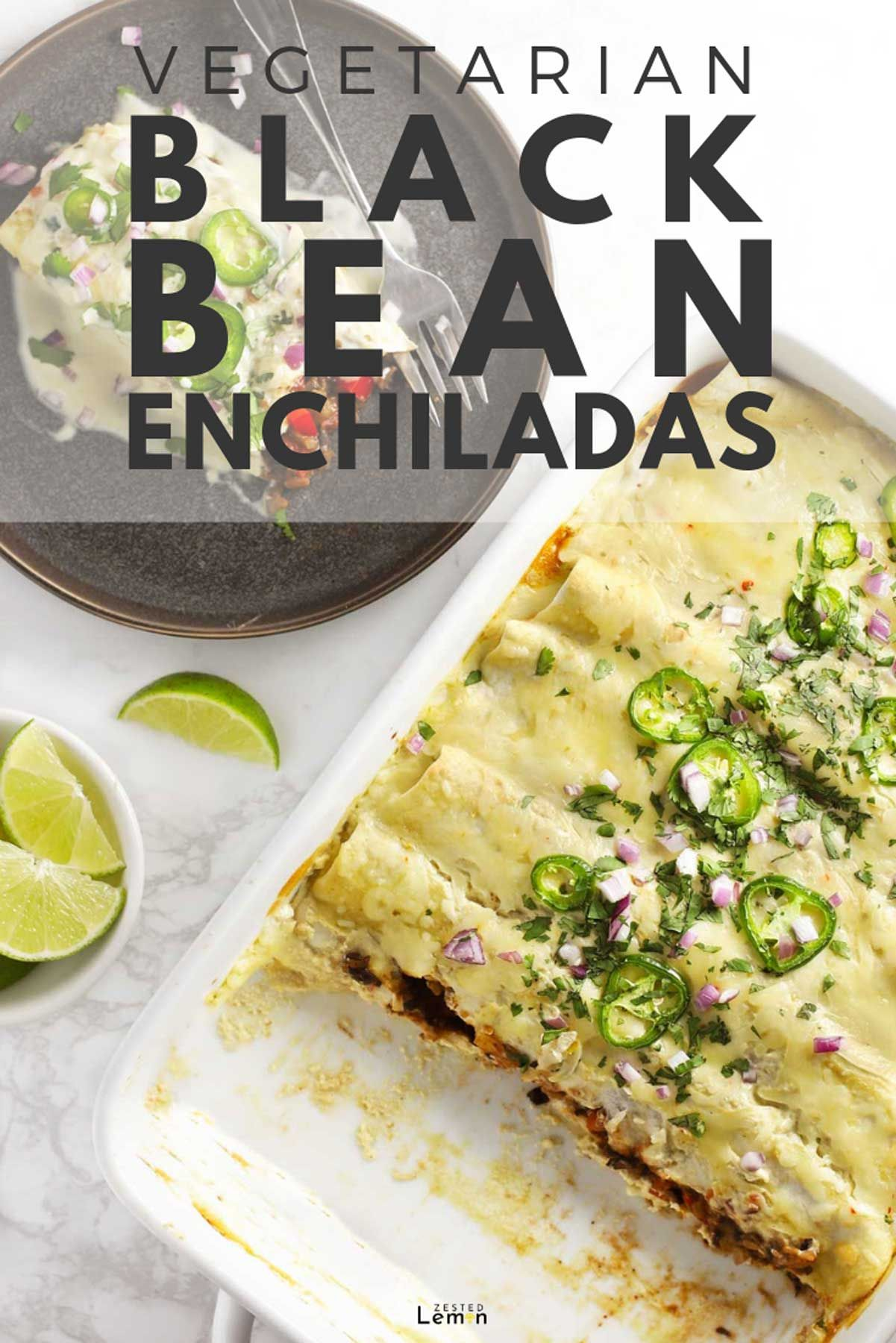 Vegetarian Black Bean Enchiladas This Vegetarian Black Bean Enchiladas recipe is healthy yet incredibly flavorful and satisfying. Best of all it is easy and the leftovers are awesome! |