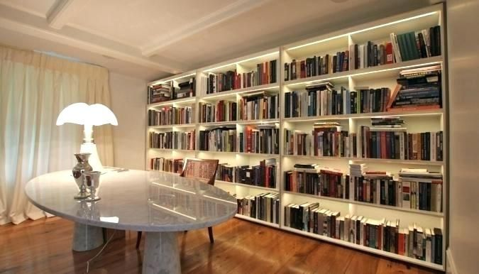 Led Bookcase Lights Lighting For Bookcases Custom