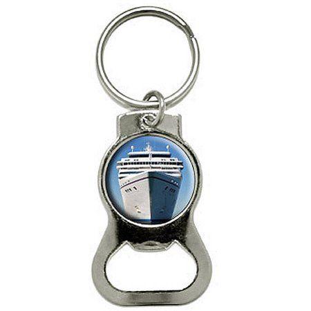 Cruise Ship On Ocean Vacation Bottle Cap Opener Keychain Key Ring Bottle Cap Opener Bottle Opener Keychain Bottle