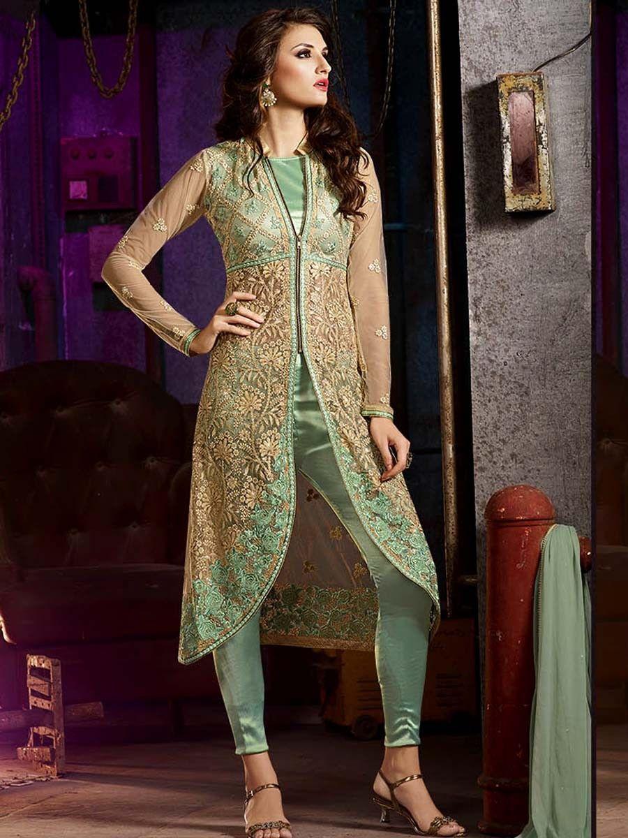 cf18e367c8 Net & Silk Salwar Kameez | Pakistani Fashion | Salwar suits, Salwar ...
