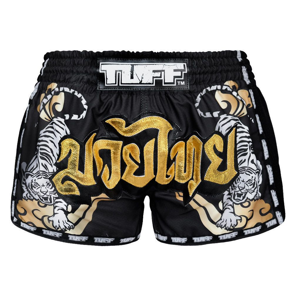 Muay Thai Kids Youth Classic Shorts Pink Gold Kickboxing K1 Thai Boxing