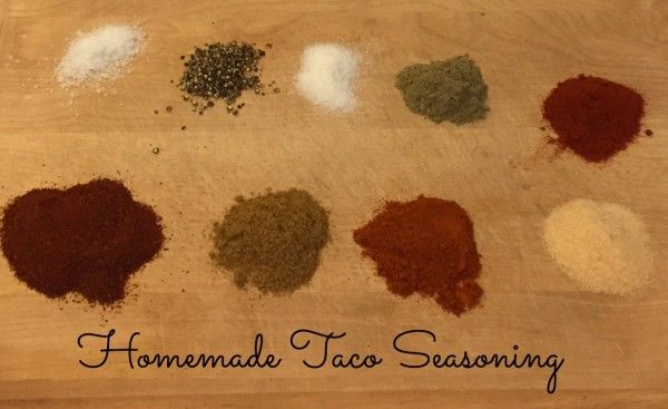 Homemade taco seasoning is one of the easiest, most versatile seasoning mixtures you can make at home.   Homemade usually has less sodium than the packaged kind at stores. @MomNutrition