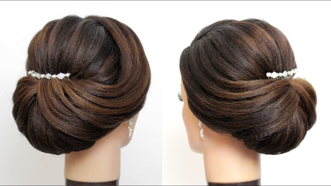 new bridal hairstyle for girls. latest wedding updo. hair