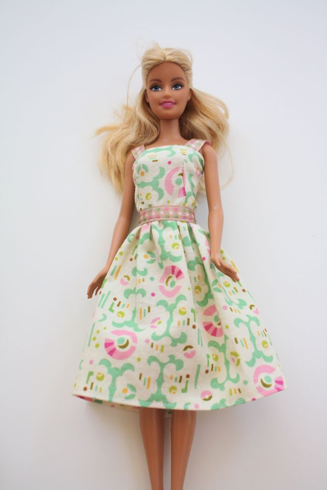Cute, classy, and simple DIY Barbie dress. Easy, step-by-step sewing ...