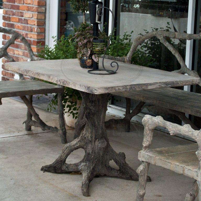 Faux Bois Rectangular Table, Faux Bois Furniture