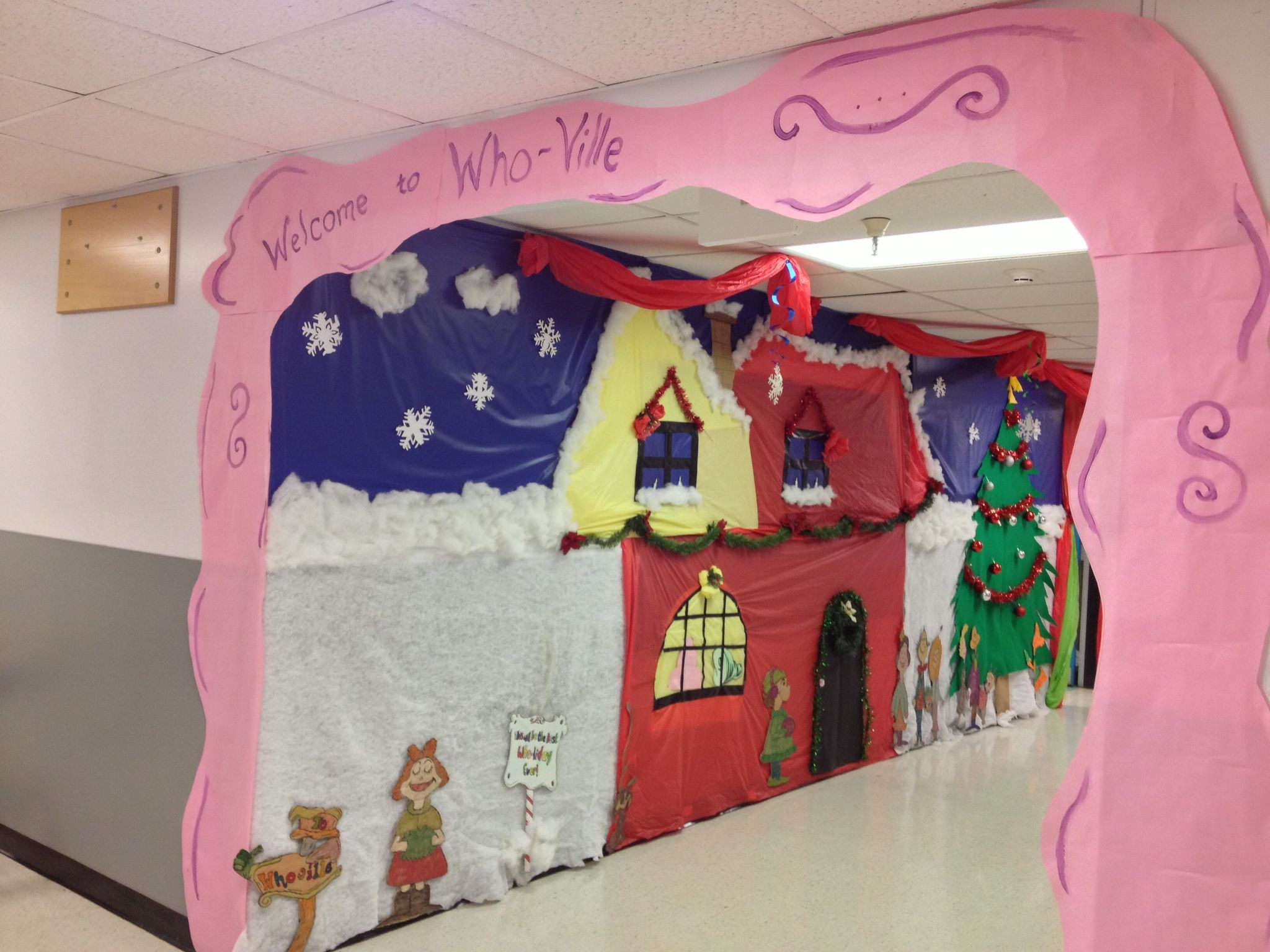 White Christmas Classroom Decorations ~ Who ville hallway outside my second grade classroom