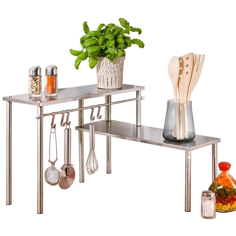 Inklusive Reling mit 5 Haken für Küchenhelfer ✓ Wenko Küchen ...