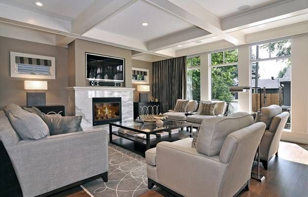 30 Multifunctional And Modern Living Room Designs With Tv And Fireplace Transitional Living Rooms Interesting Living Room Home Living Room