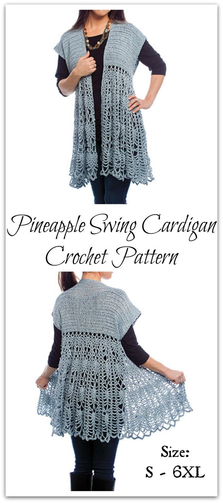 This beautiful cardigan is made using Paton s Metallic worsted ...