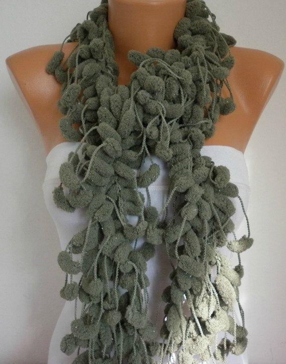 Crochet Scarf Product   Scarf - Women Scarves - Knitting Cowl - Crochet Scarf - Long Scarf ...