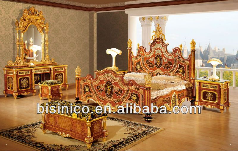 Bisini Luxury 24k Gold Plated Bedroom Set,Italian Bronze Bedroom Set   Buy Luxury  Bedroom Set,Gold Plated Bedroom Set,Gold Plated Furniture Product On ...