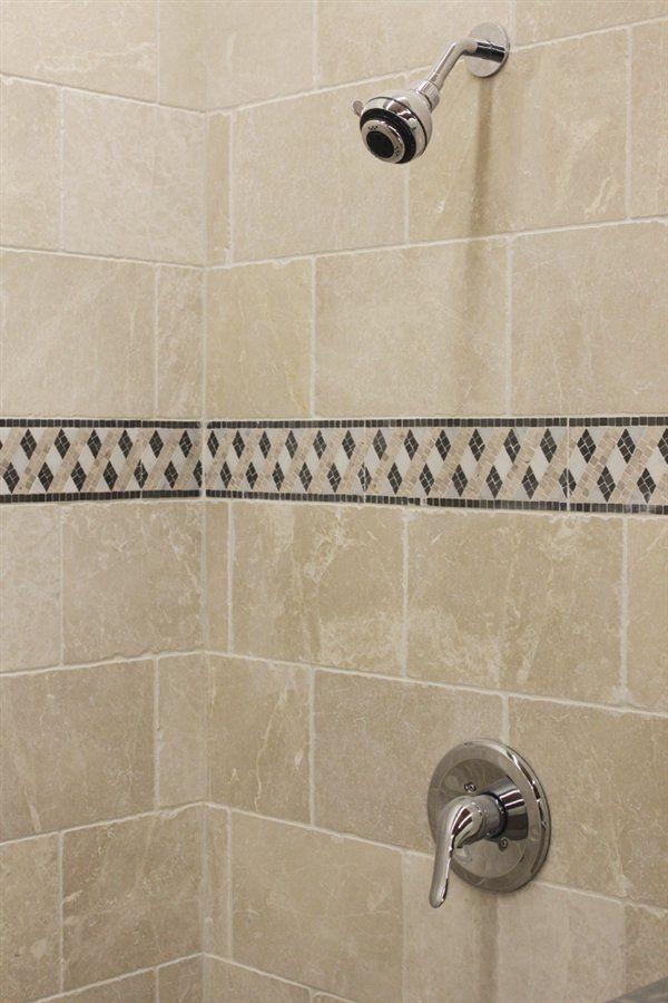 X Botticino Crystal River Pinterest Bath Tiles Tile - 8 x 12 bathroom tiles