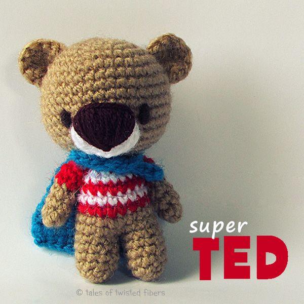 Super TED Free Amigurumi Pattern | Amigurumi, Häkelanleitung und Frei