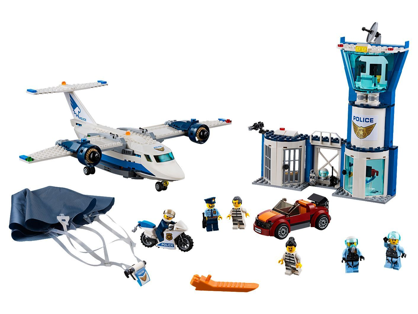 Sky Police Air Base 60210 City Buy Online At The Official Lego Shop Us Lego City Lego Police
