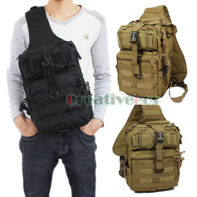 595d839fb0c5 Men 600D Nylon Military Travel Riding Cross Body Messenger Shoulder Back  pack Sling Chest Waterproof Bag