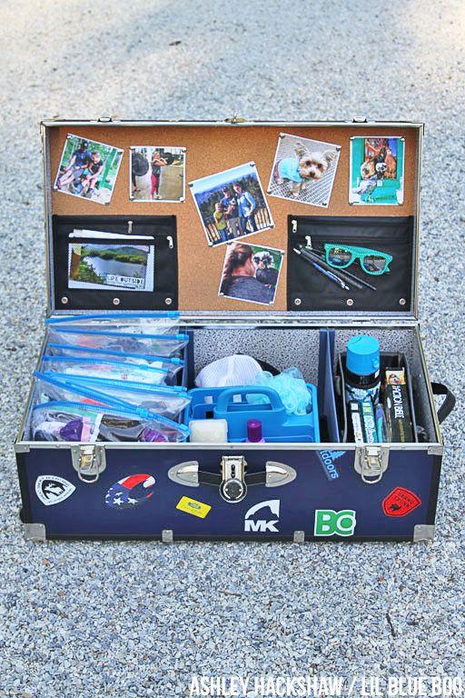summer camp trunk organizing