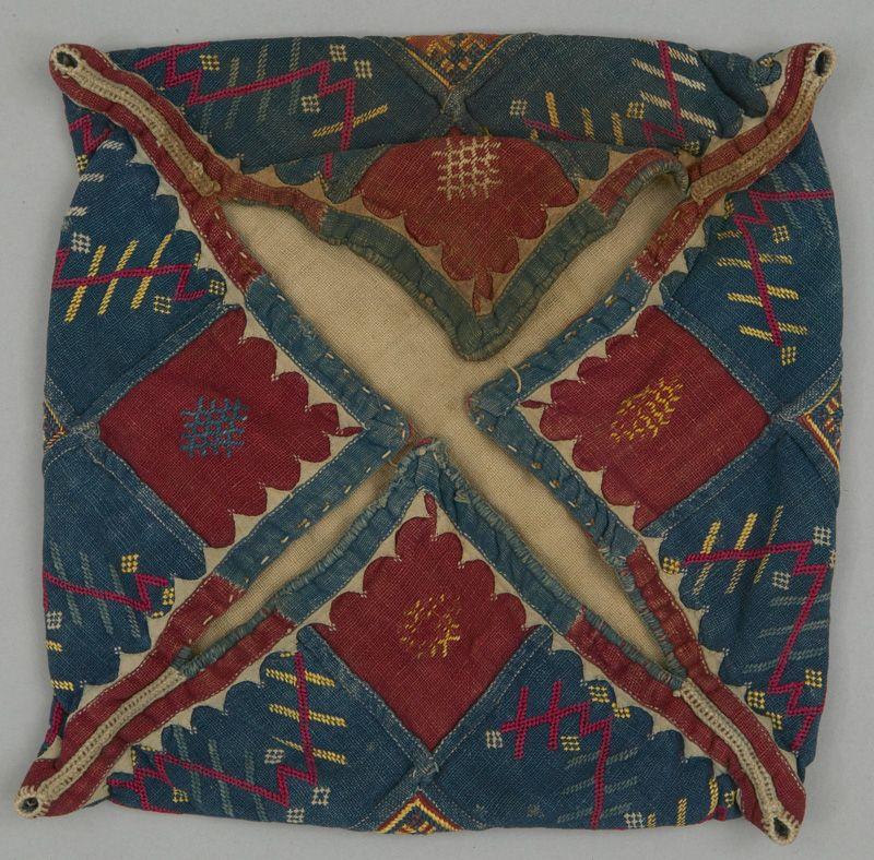 Superb Ideas For Ethnic Home Decor: Bag; India, Maharashtra, Khandesh; Banjara; C 1940, 28x28 Cm; Cotton; Silk Floss