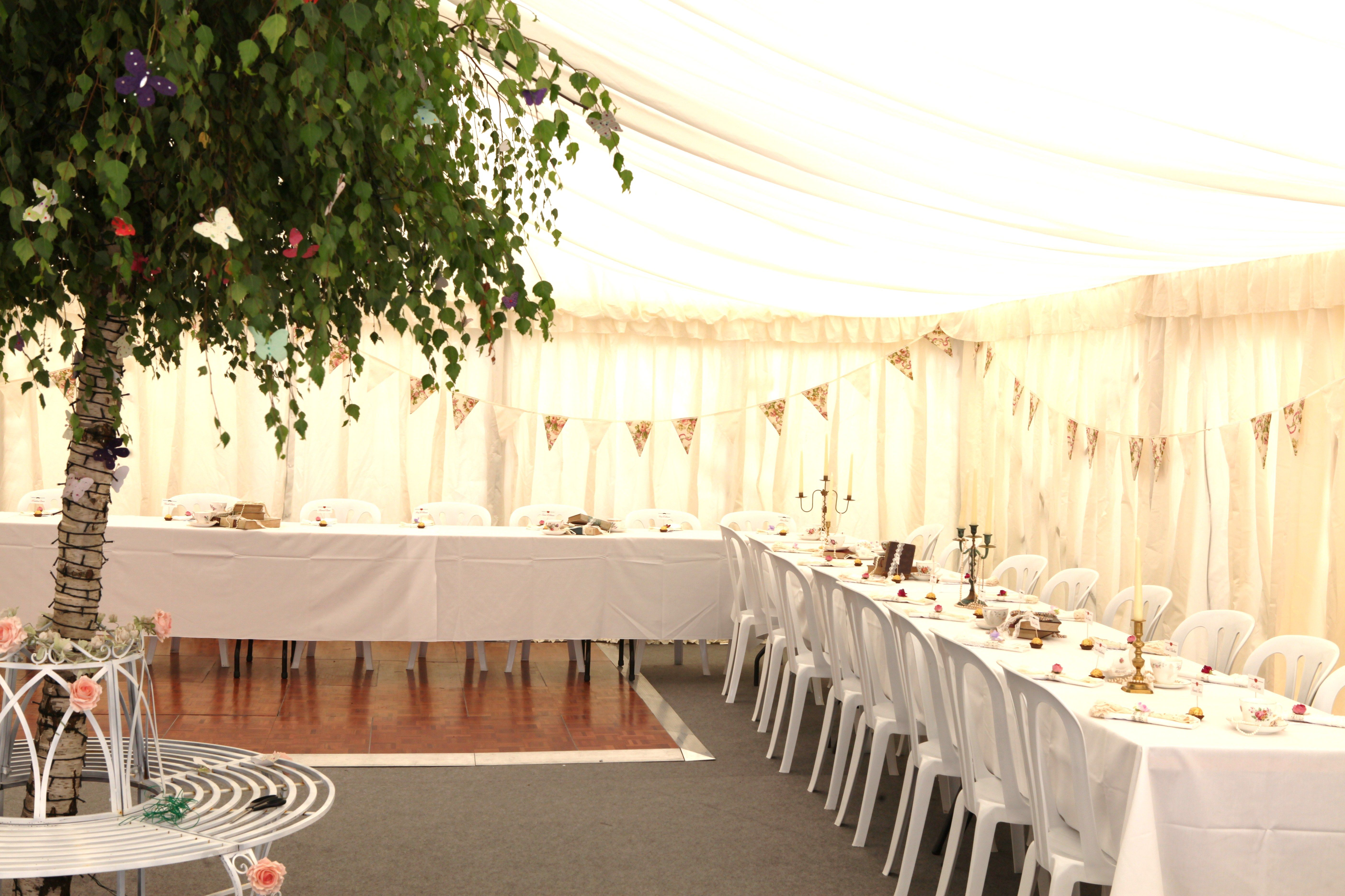 Sweetpea and Ivy wedding marquee decor
