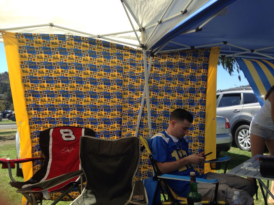 UCLA BRUINS custom made Canopy shade wall made by Maria Pope @ Premier Table Covers on & UCLA BRUINS custom made Canopy shade wall made by Maria Pope ...