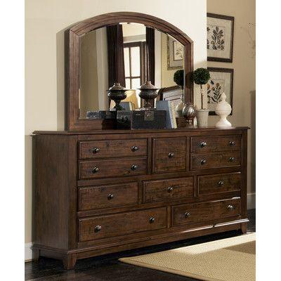 Wildon Home 10 Drawer Dresser With Mirror Reviews Wayfair