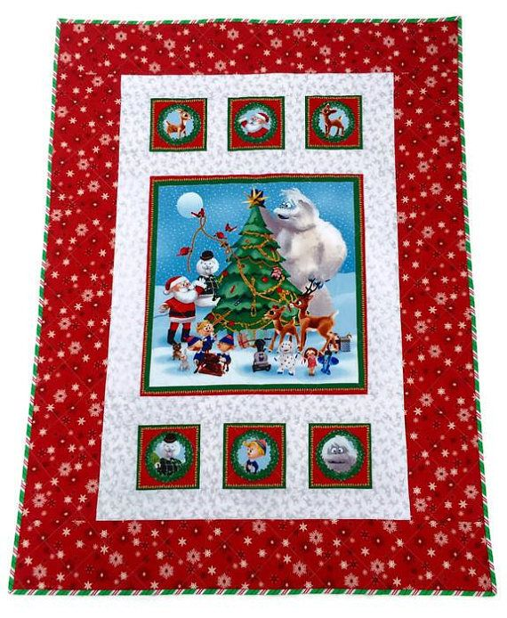 Rudolph The Red Nosed Reindeer Handmade Christmas Quilt ... : handmade christmas quilts - Adamdwight.com