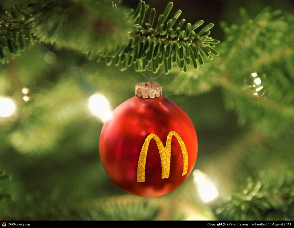 Is Mcdonalds Open On Christmas.4d August 2011 We Created This Christmas Tree Ornament For