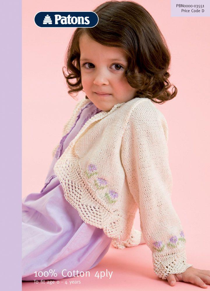 Lacy Bolero in Patons 100% Cotton 4 Ply - 3551   Knitting ...