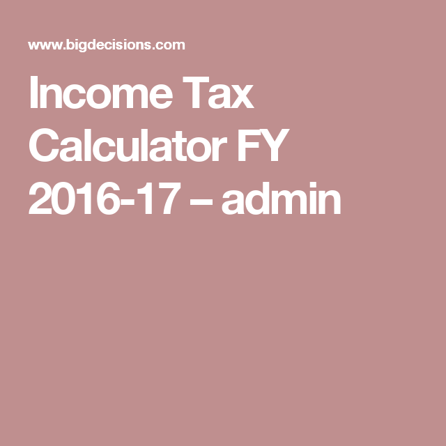Income Tax Calculator Fy   Admin  Others