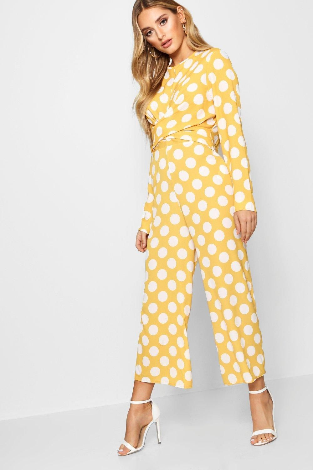 8d9f80703ee Click here to find out about the Natalie Twist Front Culotte Jumpsuit from  Boohoo