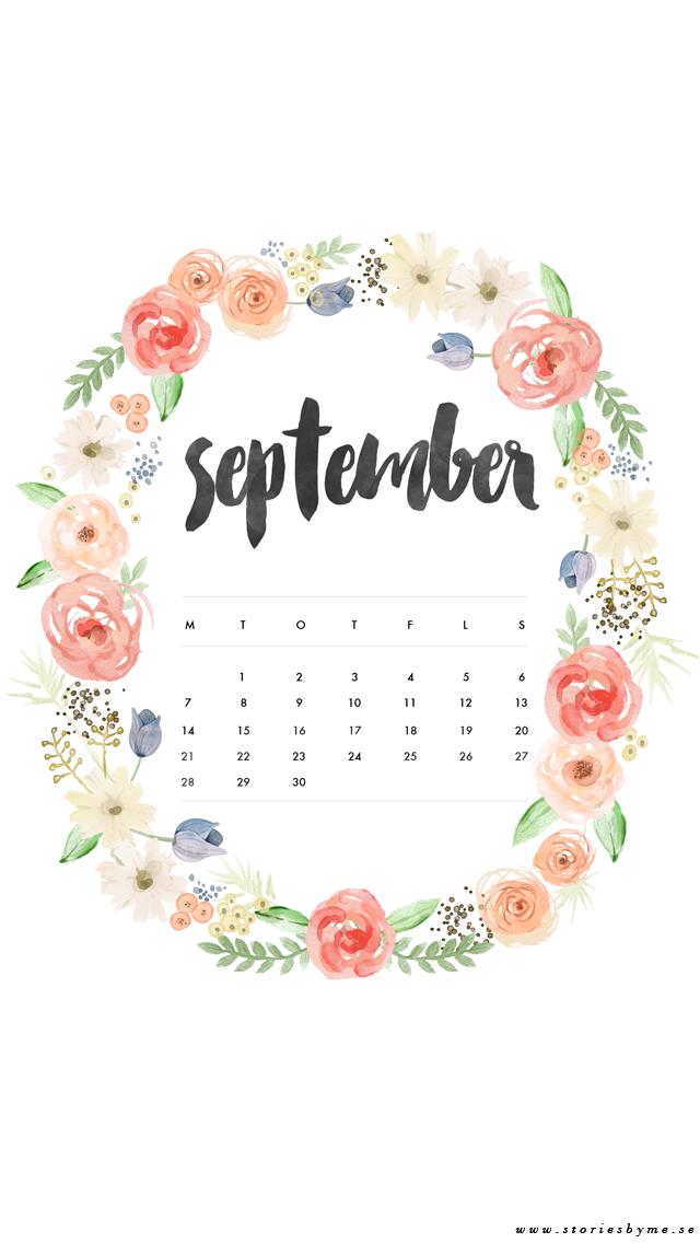 Calendar Wallpaper Quotes : Iphone wallpaper september calendar my