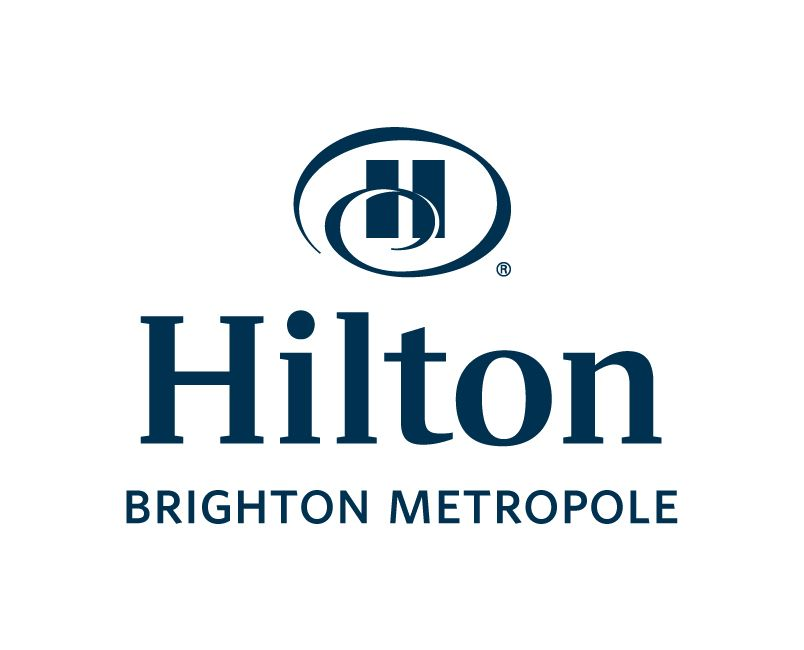Hilton Brighton Metropole Logo  Blue on white