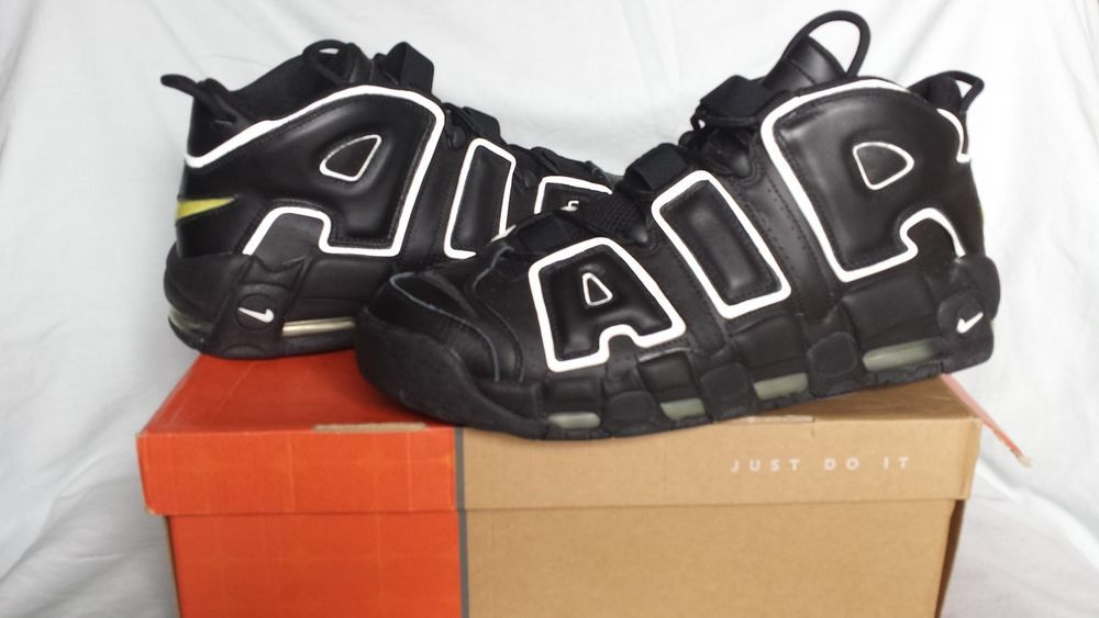 2d0a623f857bb9 RARE Nike Air More Uptempo Black Leather Shoes Sz 13 Scottie Pippen NDS  2005  Nike  BasketballShoes