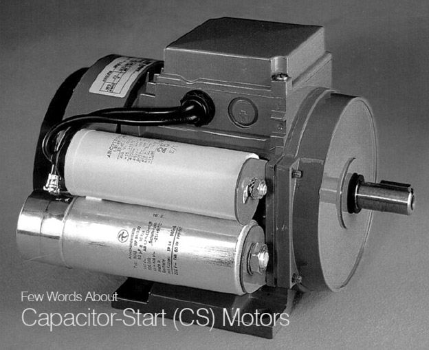 Few Words About Capacitor Start Cs Motors Eep Capacitor Motor Electrical Gadgets