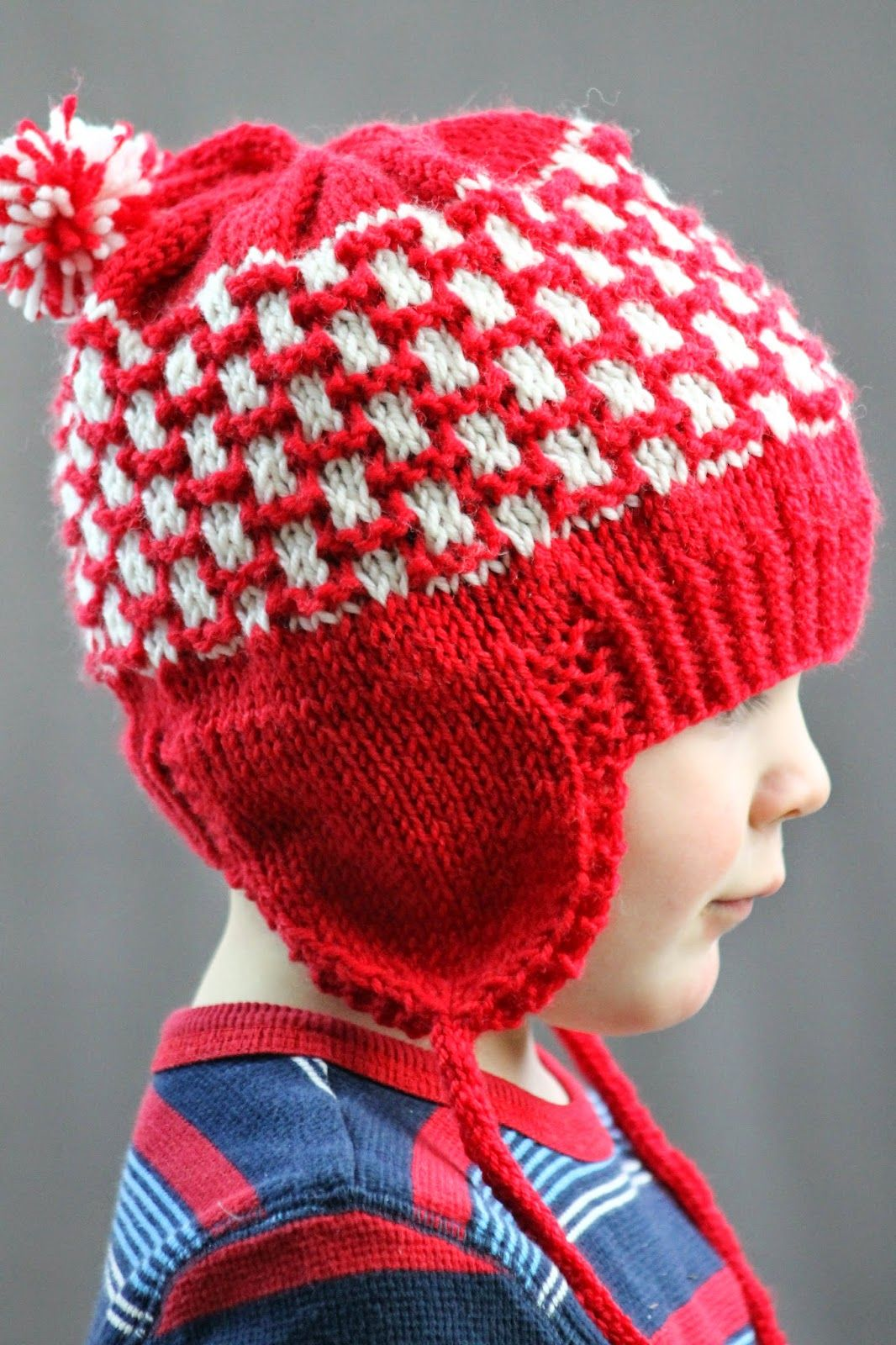 Double Pom Earflap Hat | Baby knitting, Knitting, Knitting ...