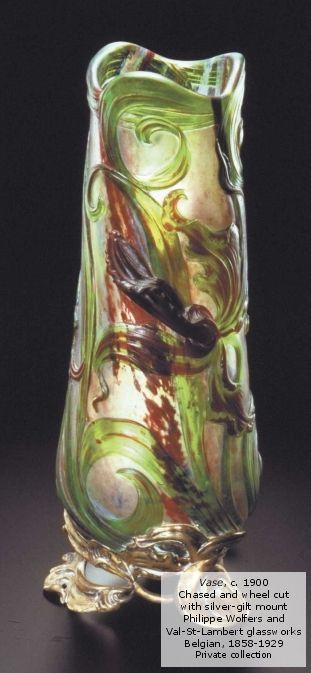 Art nouveau vase decoraci n vintage color ideas for Decoracion art nouveau