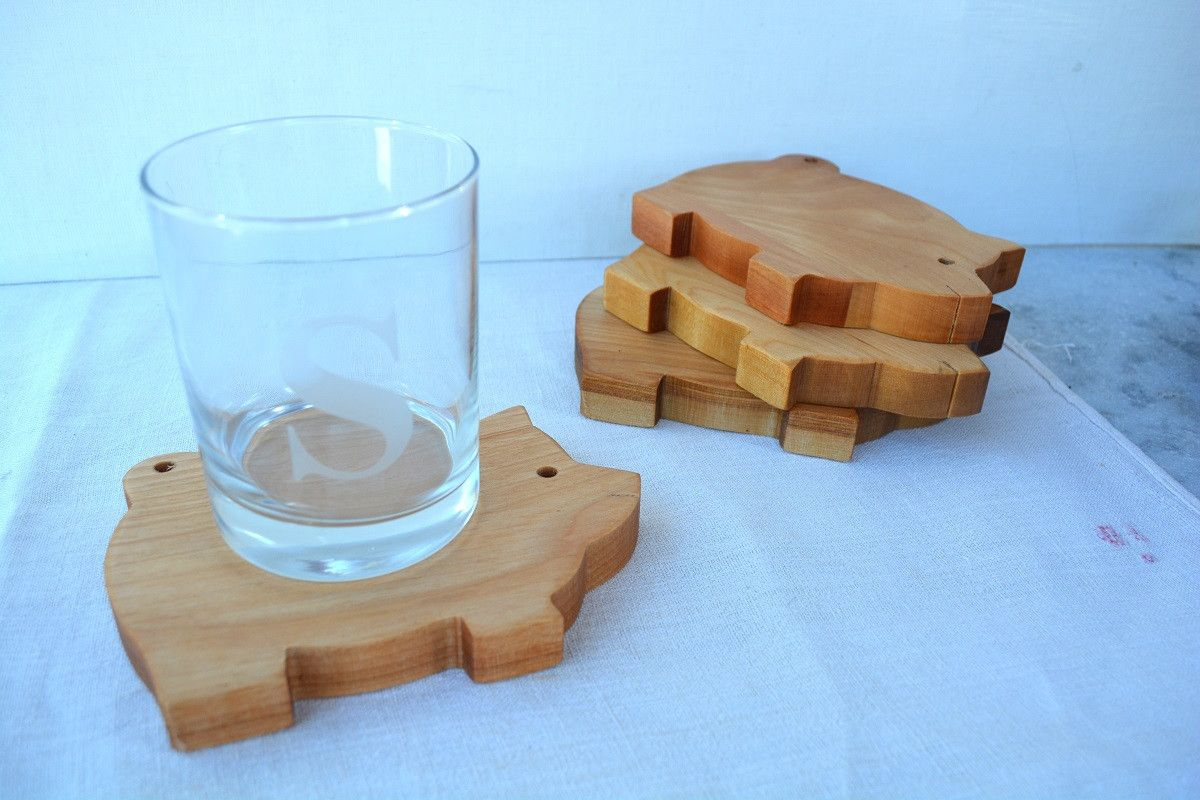 Pig Coasters Olive Wood Coasters Hampshire Coasters And Bowls