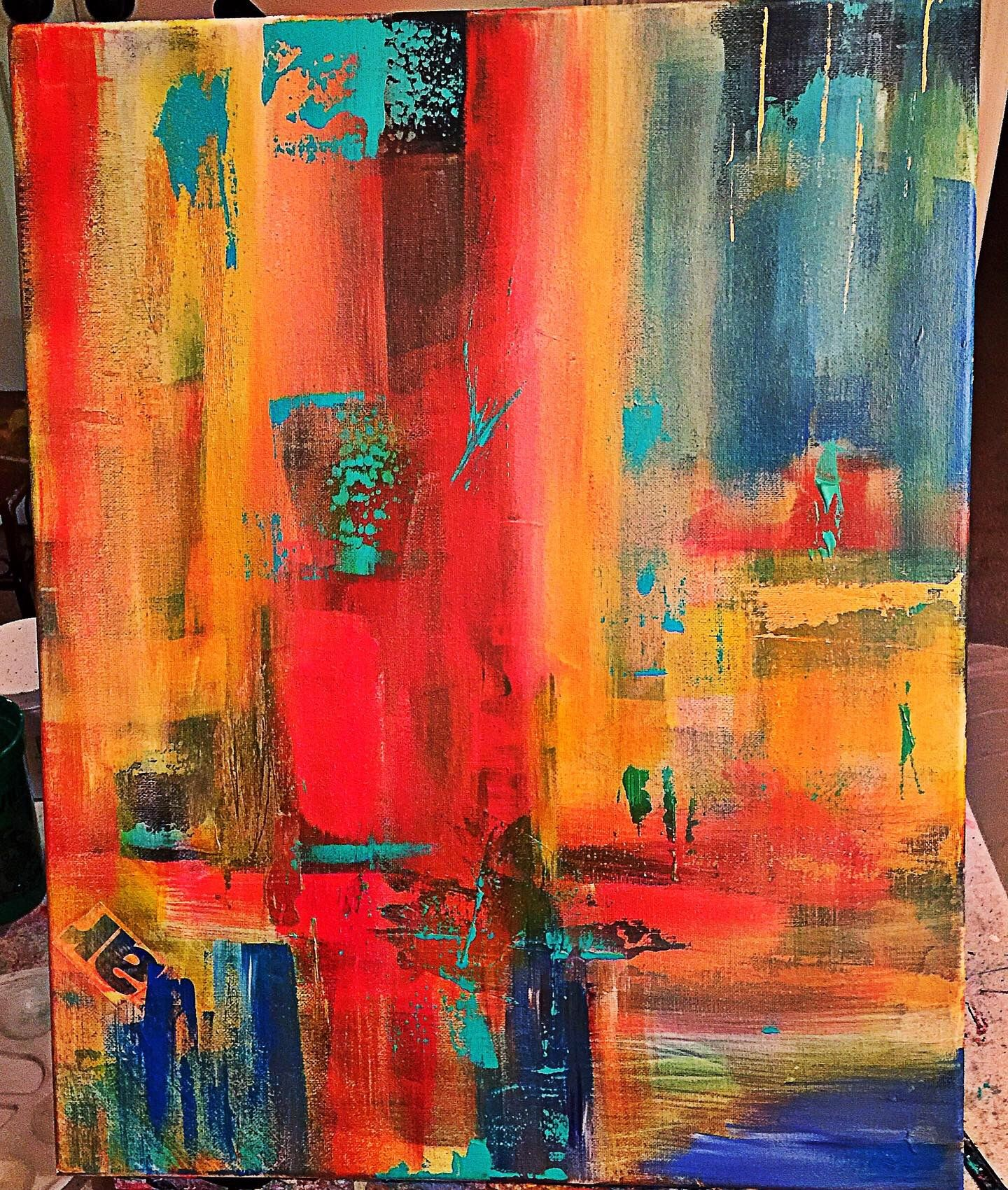 Abstract acrylic painting on canvas 25000 abstractart