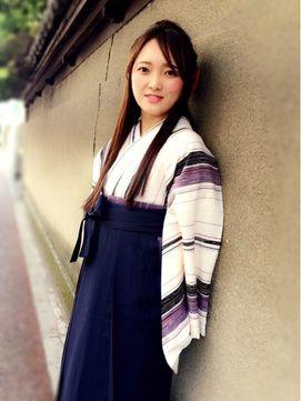 リラシス Relasis 卒業式に 袴スタイル ストレートハーフアップ