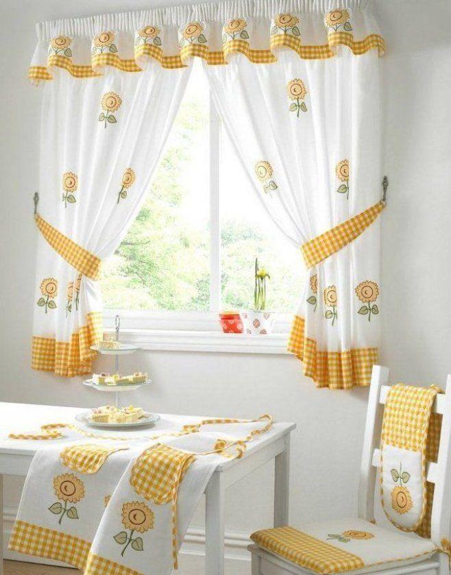sch ne gardinen sonnenblumen muster k che #diydekorküche # ...