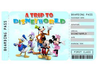 image regarding Printable Disney Tickets titled Printable Ticket towards Disneyworld/Disneyland Customizable
