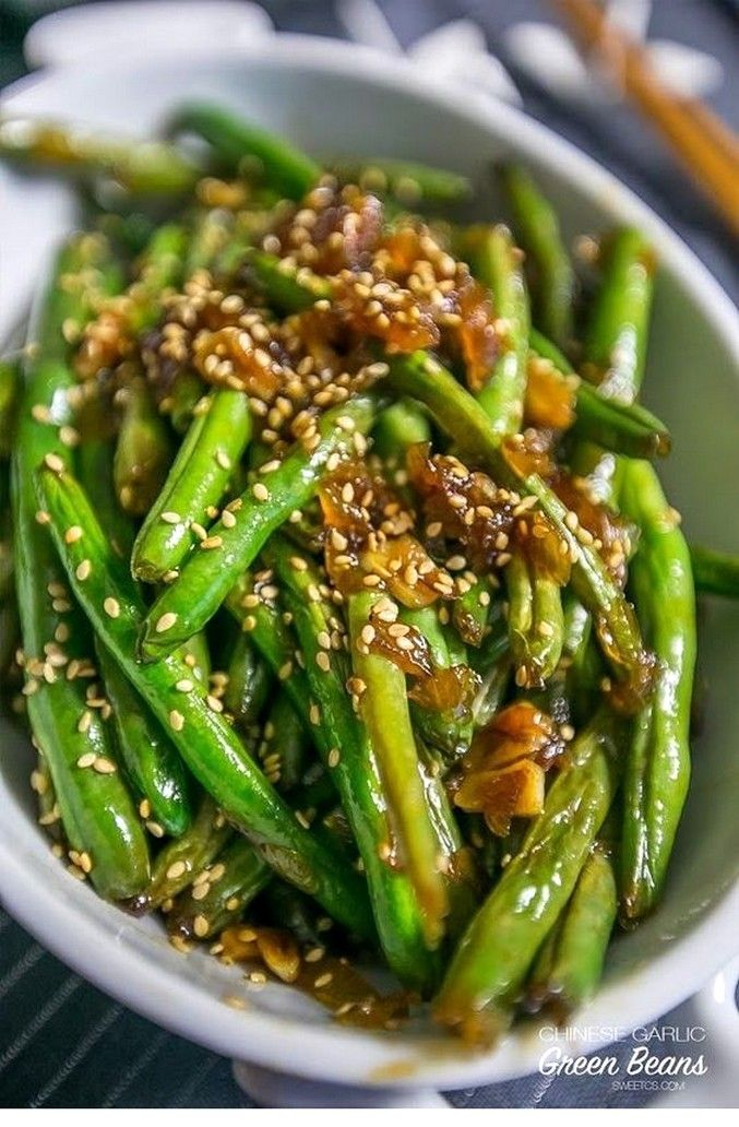 Garlic Chinese Style Green Beans #chinesefood